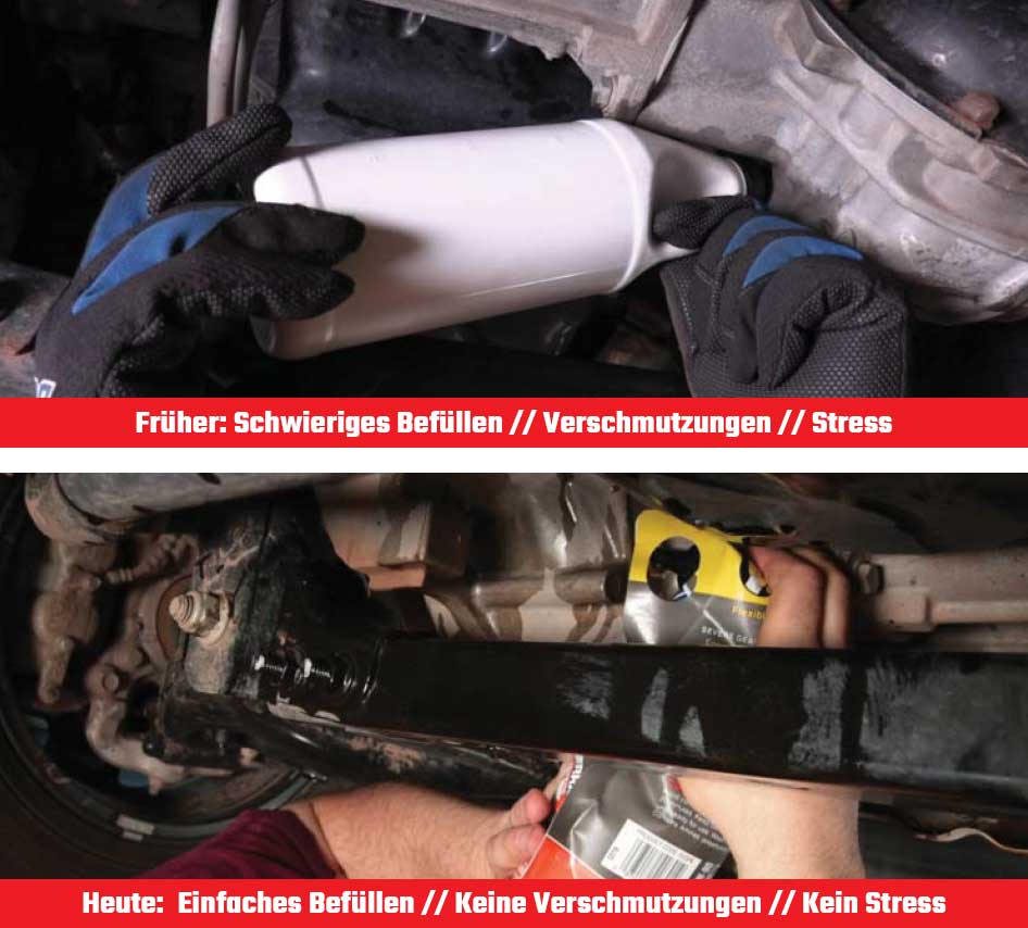 Die Unterschiede der alten und neuen Severe Gear Flasche